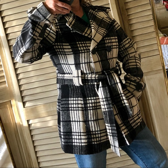 Jou Jou Jackets & Blazers - Jou Jou plaid double breasted coat size M